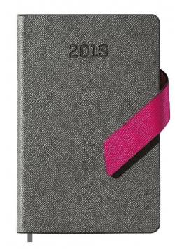Kalendarz 2019 książkowy A6 szary mag. EASY