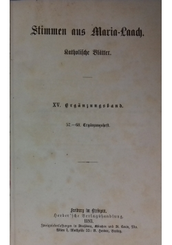 Stimmen aus Maria-Laach katholische Blätter, 1893 r.