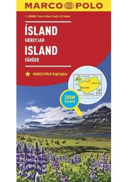 Mapa ZOOM System. Islandia 1:650 000