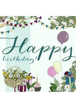 Karnet Swarovski kwadrat CL2117 Urodziny Balony