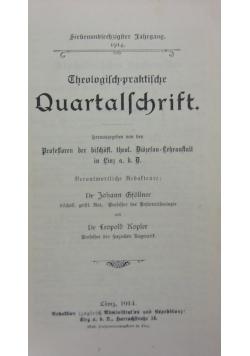 Quartal=Schrift,1914r.