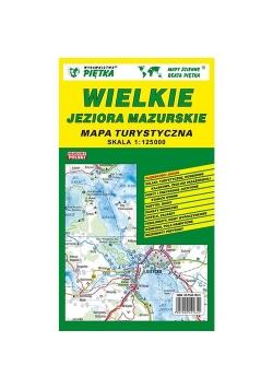 Wielkie Jezora Mazurskie mapa turystyczna 1:125 000