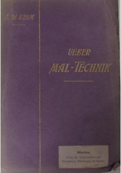 Ueber Mal-Technik 1903 r.