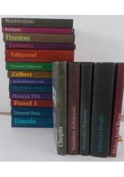Biografie sławnych ludzi, zestaw 18 książek