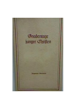 Gnadentage junger Christen, 1940 r.