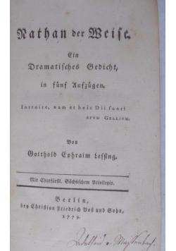 Nathan der Weise, 1779 r.