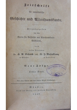 Beschichte und Ulterhumsfunde, 1849 r.