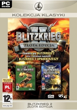 Blitzkrieg 2 złota edycja, płyta DVD
