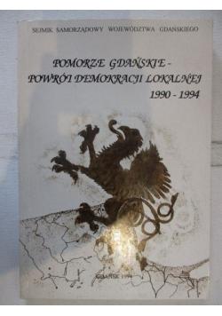Pomorze Gdańskie-powrót demokracji lokalnej 1990-1994
