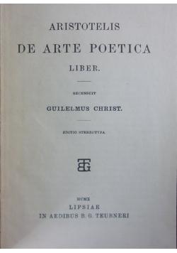 De arte poetica liber 1910 r.