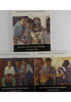 Meditations Evangeliques -Pour tous les jours de lannee liturgique - Tom I - III