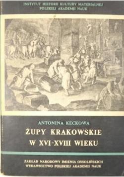Żupy krakowskie w XVI-XVIII wieku