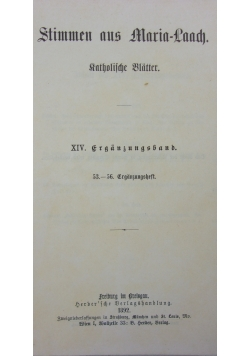Stimmen aus Maria-Laach: katholische Blätter, 1892 r.