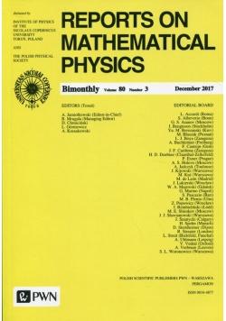 Reports on Mathematical Physics 80/3 2017 Kraj
