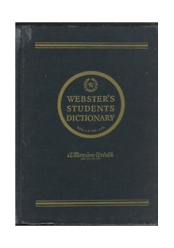 Webster's students dictionary
