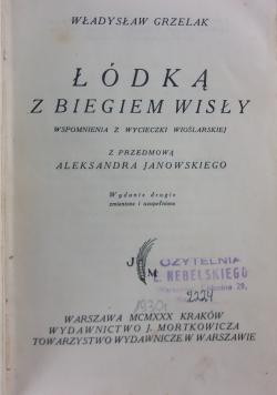 Łódką z biegiem Wisły, 1930 r.