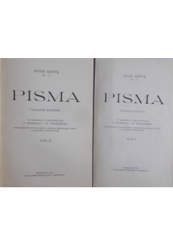 Pisma - tom 1 i 2.