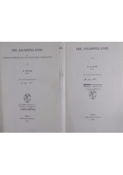 Die Anaphylaxie, tom I-II