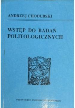 Wstęp do badań politologicznych