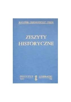 Zeszyty historyczne, zestaw 4 książek