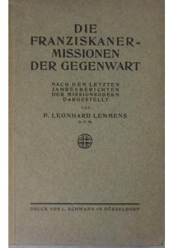 Die franziskaner missionen der gegenwart, 1924 r.