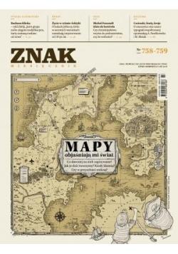 Miesięcznik Znak758-59 Mapy objaśniają mi świat