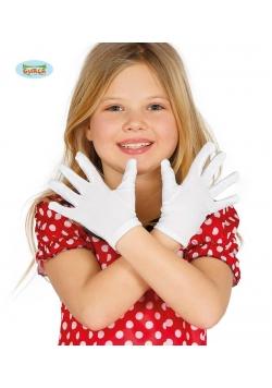Białe Dziecięce Rękawiczki 17cm