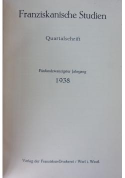 Franziskanische Studien Quartalschrift, 1938 r.