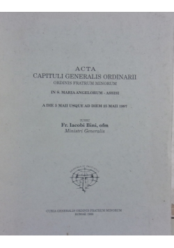 Acta Capituli Generalis Ordinarii