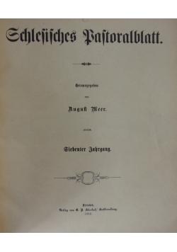 Schlesisches Pastoralblatt, 1886 r.