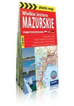 Plastic map Wielkie Jeziora Mazurskie mapa