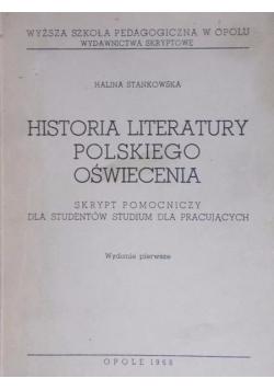 Historia literatury Polskiego oświecenia