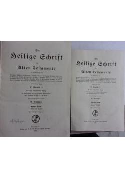 Kautzsch die heilige schrift des alten testaments, ok.1923r, 2 książki