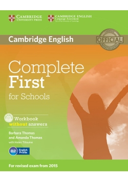 Complete First for Schools Workbook without Answers + CD