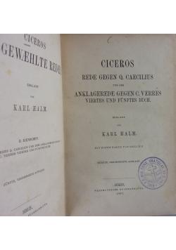 Ciceros Ausgewaehlte Reden, 1867 r.