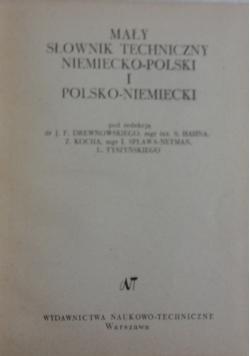 Mały słownik techniczny niemiecko polski i polsko-niemiecki