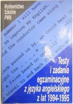 Testy i zadania egzaminacyjne z języka angielskiego z lat 1994-1995