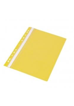 Skoroszyt wpinany wzmacniany Żółty (20szt)