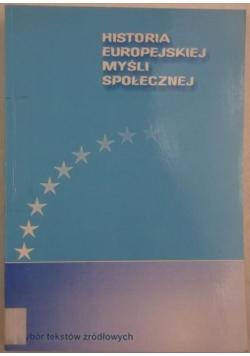 Historia europejskiej myśli społecznej