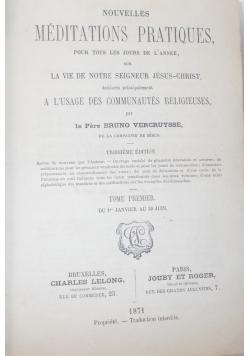 Nouvelles Méditations poétiques, 1871 r.