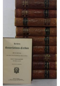 Herders Konversations-Lexikon. Zestaw 10 książek