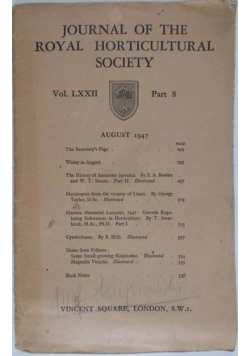 Journal of the royal horticultural society,1947