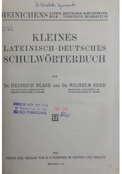 Kleines lateinisch - Deutsches Schulworterbuch , 1911 r.