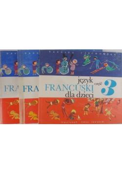 Język francuski dla dzieci Cz.1,2,3