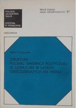 Struktura polskiej emigracji politycznej w Szwajcarii  w latach sześćdziesiątych XIX wieku
