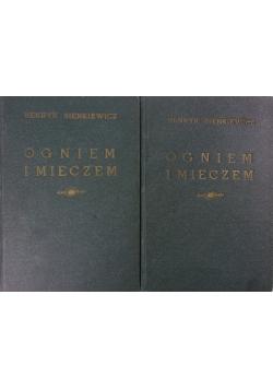 Ogniem i mieczem Tom I-II - ok.1936 r., 2 książki