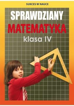 Sprawdziany Matematyka Klasa IV