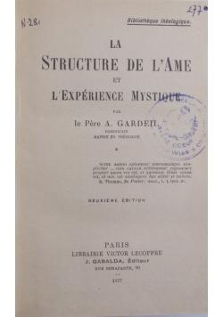 La structure de l'âme et l'expérience mystique, 1927 r.