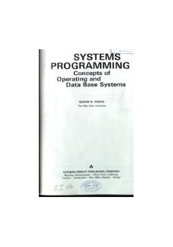 Systems programming Concepts of Operating and Data Base  Systems