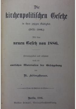 Die kirchenpolitischen Geseke, 1886 r.